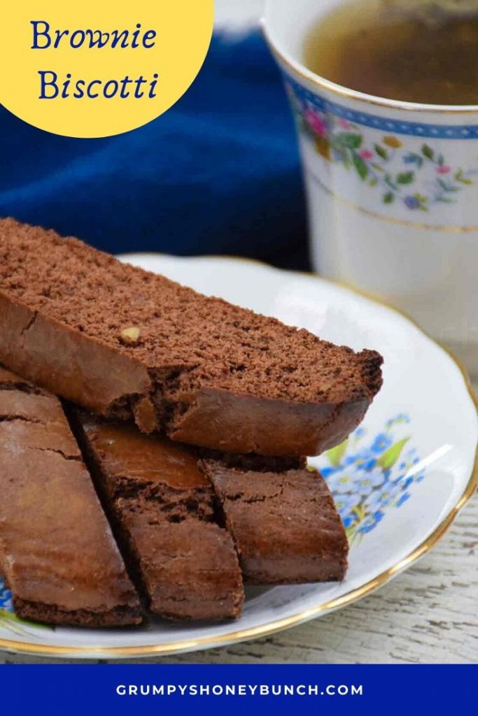 Pinnable Image for Brownie Biscotti