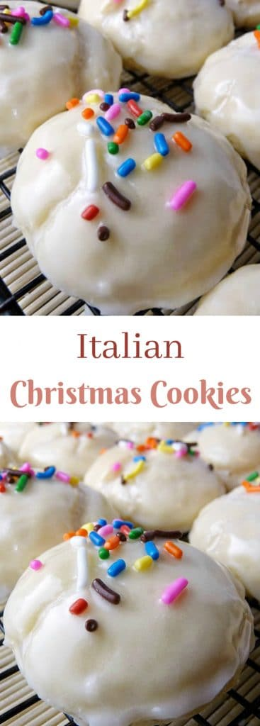 Italian Christmas Cookies pinnable image