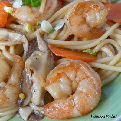 Longevity Noodles with Shrimp