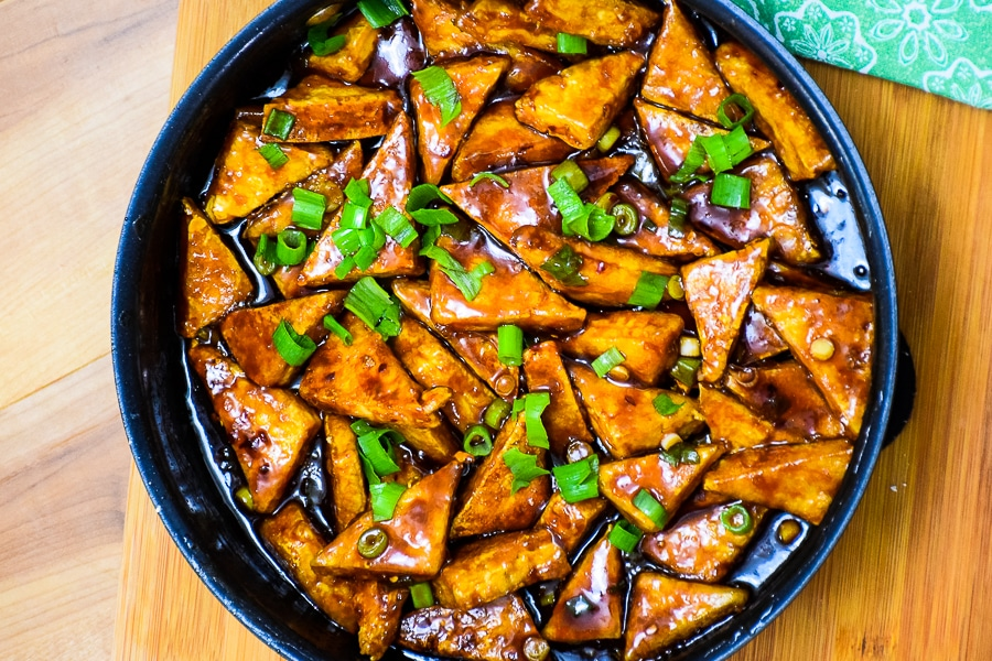 Crispy General Tso's Tofu #vegetarian #chineserecipe #tofu