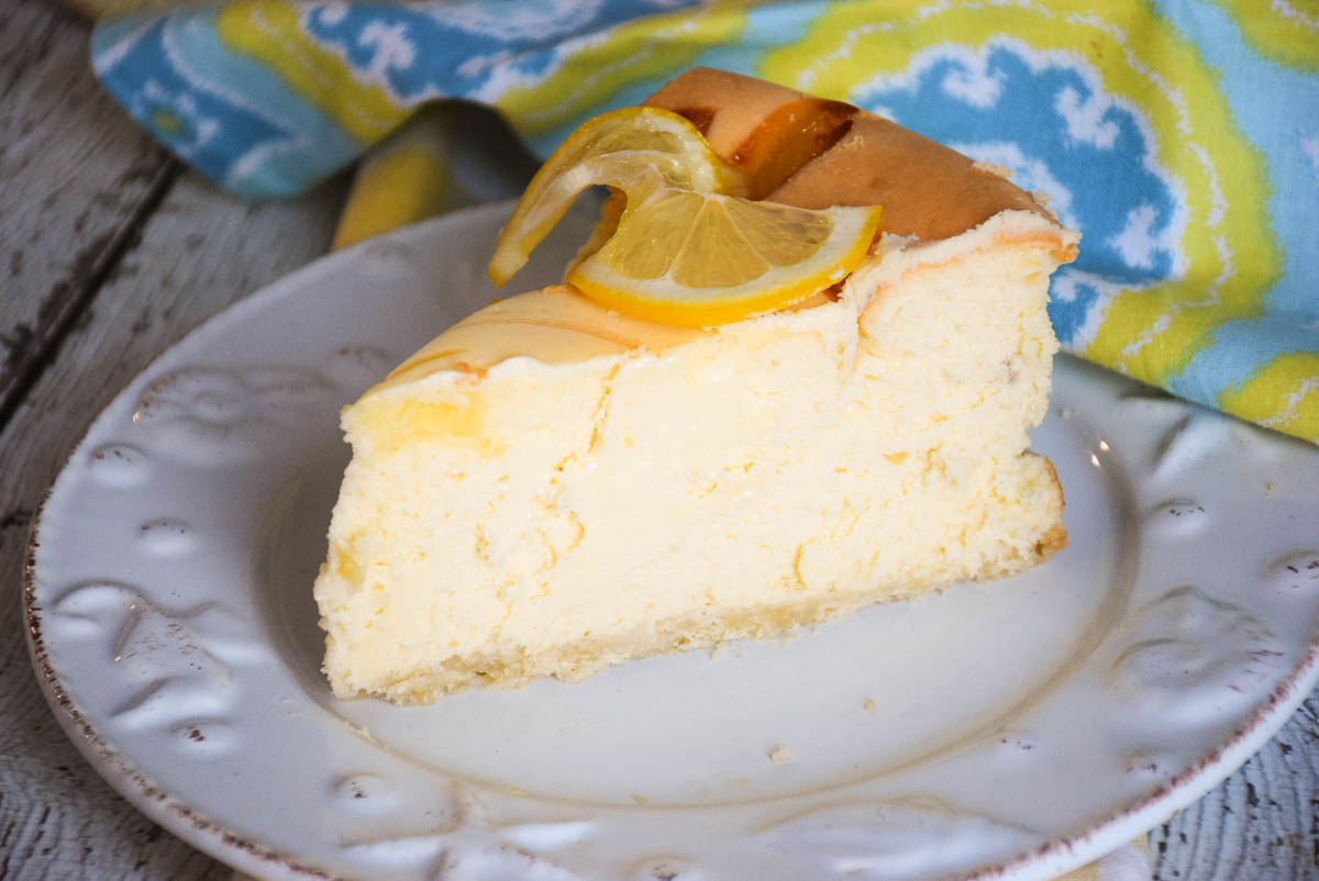 Lemon Curd Swirl Cheesecake