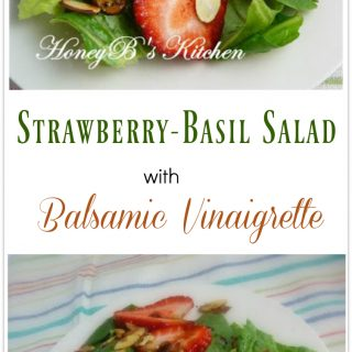 Strawberry Basil Salad with Balsamic Vinaigrette