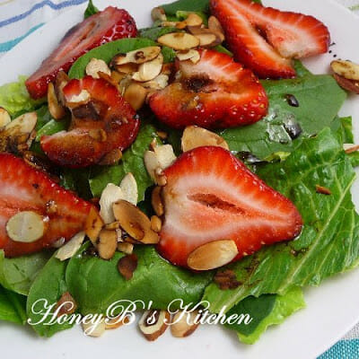 Strawberry-Basil Salad with Balsamic Vinaigrette