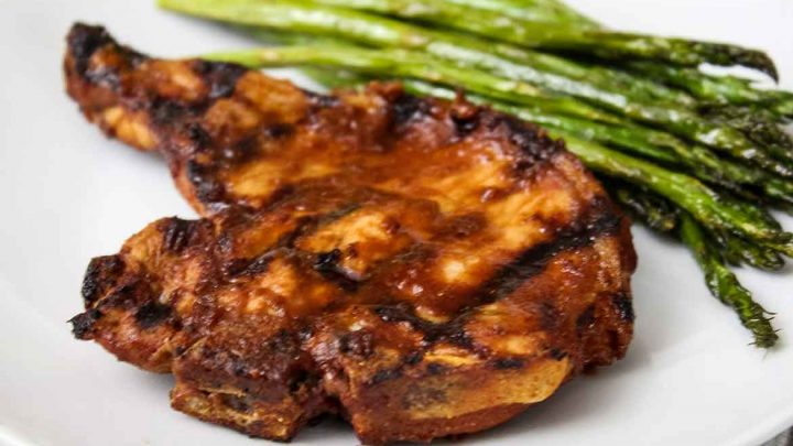 Grilled Pork Chops with Chipotle Sauce