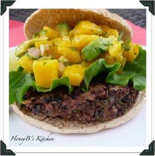 Black Bean Burgers with Mango Salsa