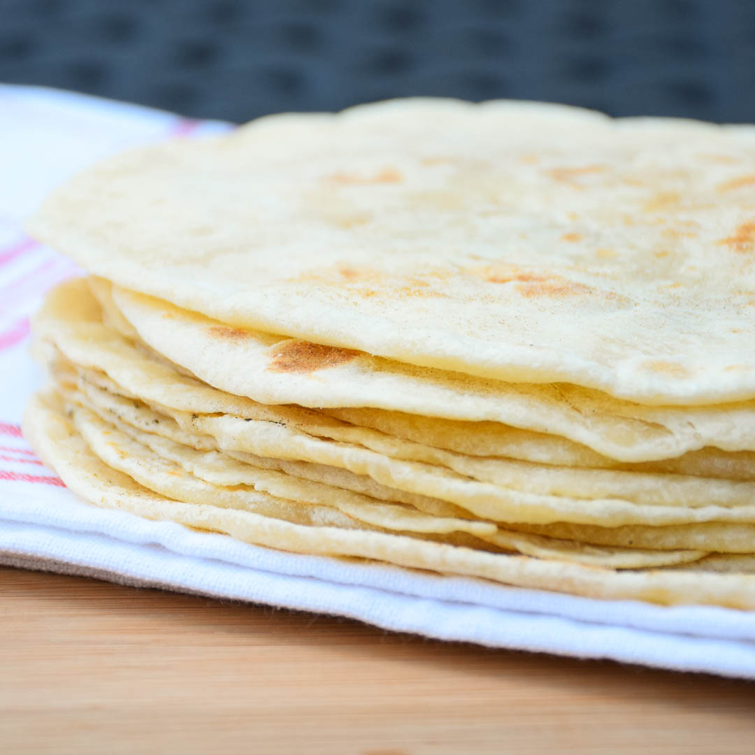 Homemade Flour Tortillas – 3 Ingredient recipe