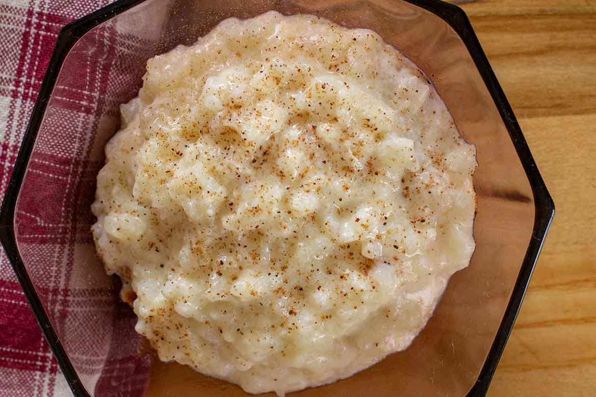 Mom's Old-Fashioned Baked Rice Pudding