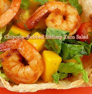 Chipotle-Rubbed Shrimp Taco Salad