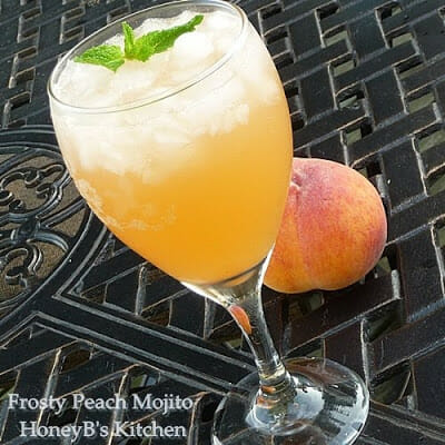 Keeping cool with Frosty Peach Mojitos