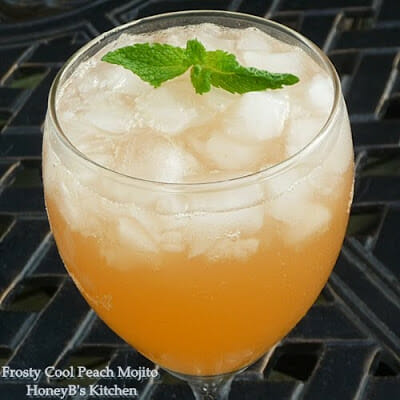 Frosty Peach Mojitos