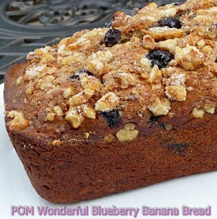 POM Wonderful Blueberry Banana Bread