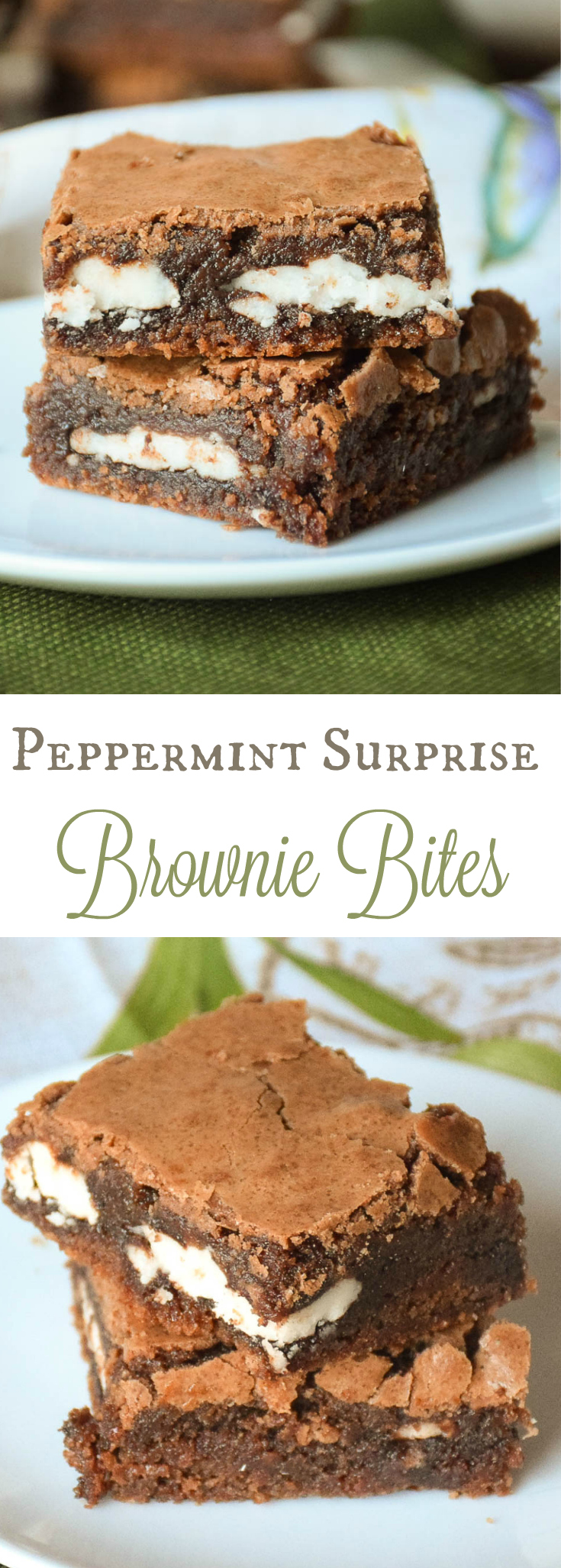 Peppermint Surprise Brownie Bites