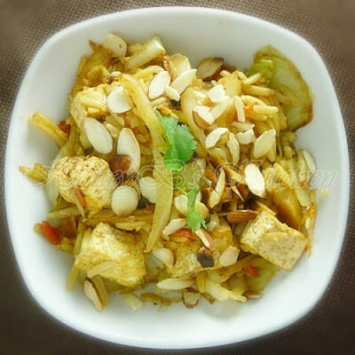 Tamarind Tofu Cabbage Bowl