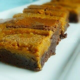 Peanut Butter Caramel Swirl Brownies