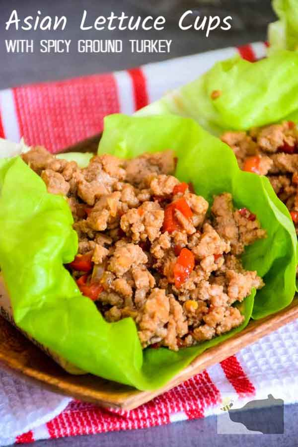 Asian Lettuce Cups with Spicy Ground Turkey #asianlettucecups #asianlettucewrap #spicy #turkey #asian #lowcarb #keto