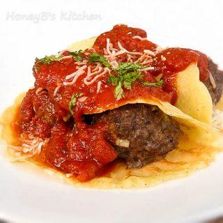 Meatball Crepes