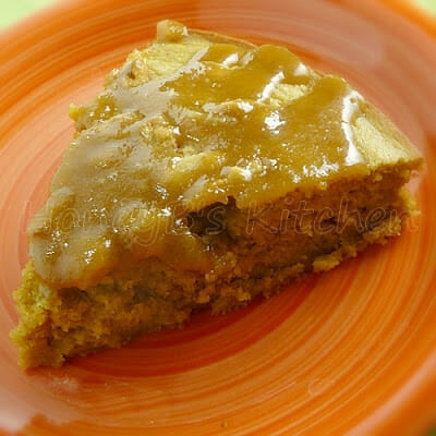 Caramel Frosted Pumpkin Pie Coffeecake #pumpkin #cake #pumpkinpie #pie #coffeecake #baking