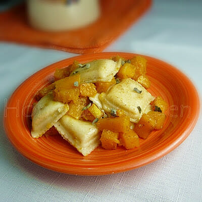 Cheese Ravioli with Butternut Squash and Sage Browned Butter
