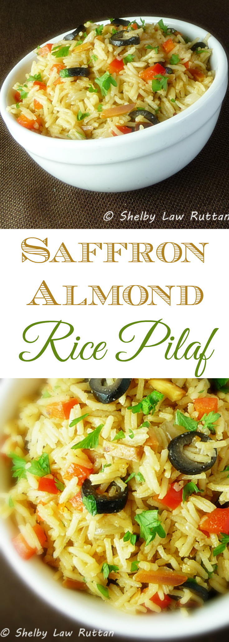 Saffron Almond Rice Pilaf