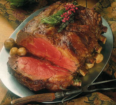 Holiday Prime Rib Roast with Pan Gravy
