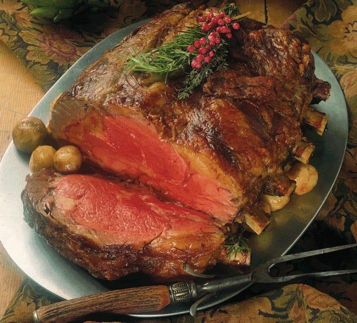 Prime Rib Roast with Pan Gravy #primerib #roast #beef #beefroast