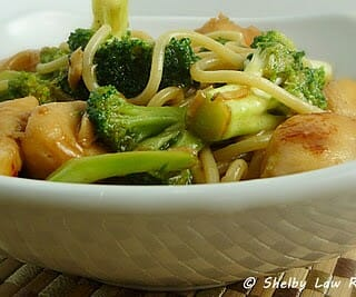 Chicken with Broccoli and Noodle Stir-Fry