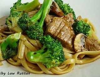 Beef & Broccoli with Black Bean Mushroom Sauce