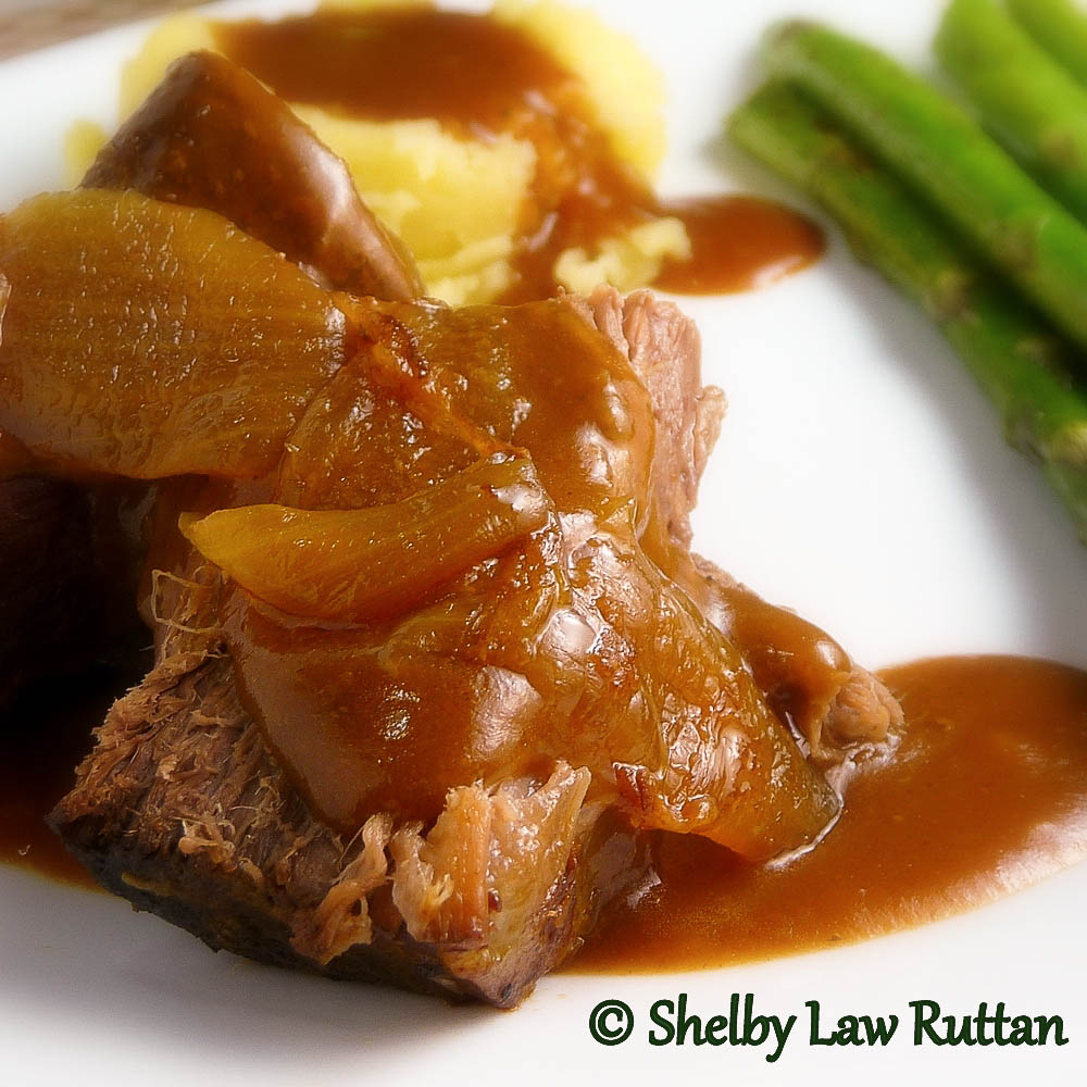 Slow Cooker Pot Roast and Onions