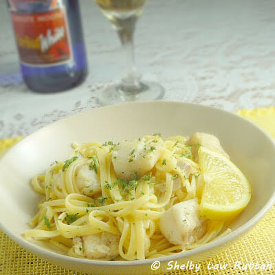 Peppery Cod with Lemon Garlic Linguine
