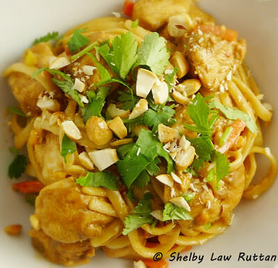 Thai Peanut Chicken and Noodles