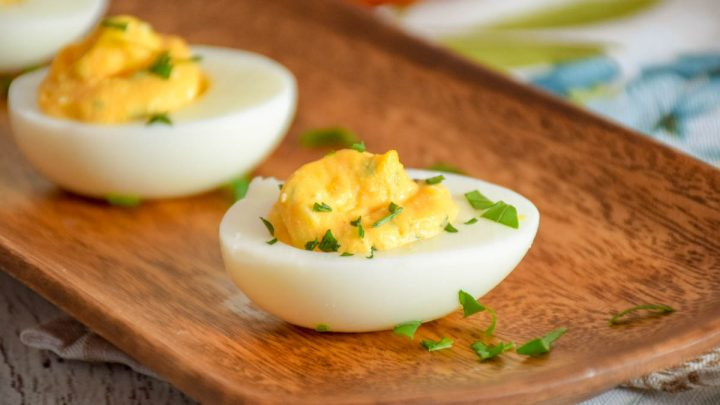 Buffalo-Style Stuffed Eggs
