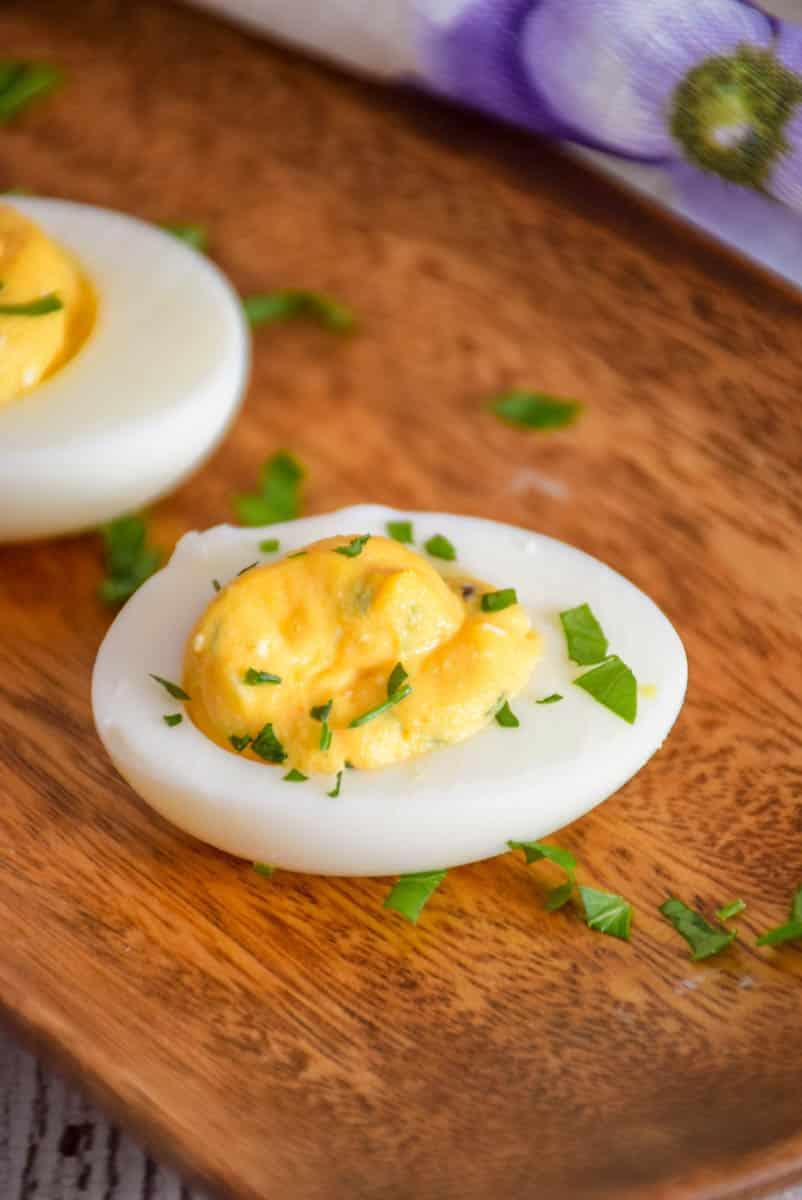Buffalo Style Stuffed Eggs