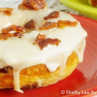 Blood Orange Cranberry Baked Doughnuts with Bacon Maple Glaze