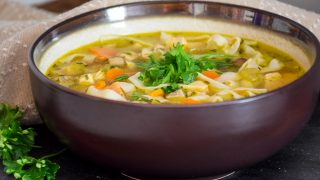 Homemade Chicken Noodle Soup - Lower Carbohydrate Recipe