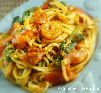 Shrimp Fra Diavolo with Spinach