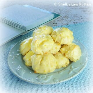 Pineapple Cookies with Orange Glaze