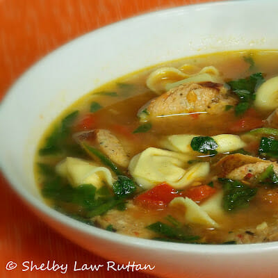 Al Fresco Jalapeno Chicken Sausage and Tortellini Soup