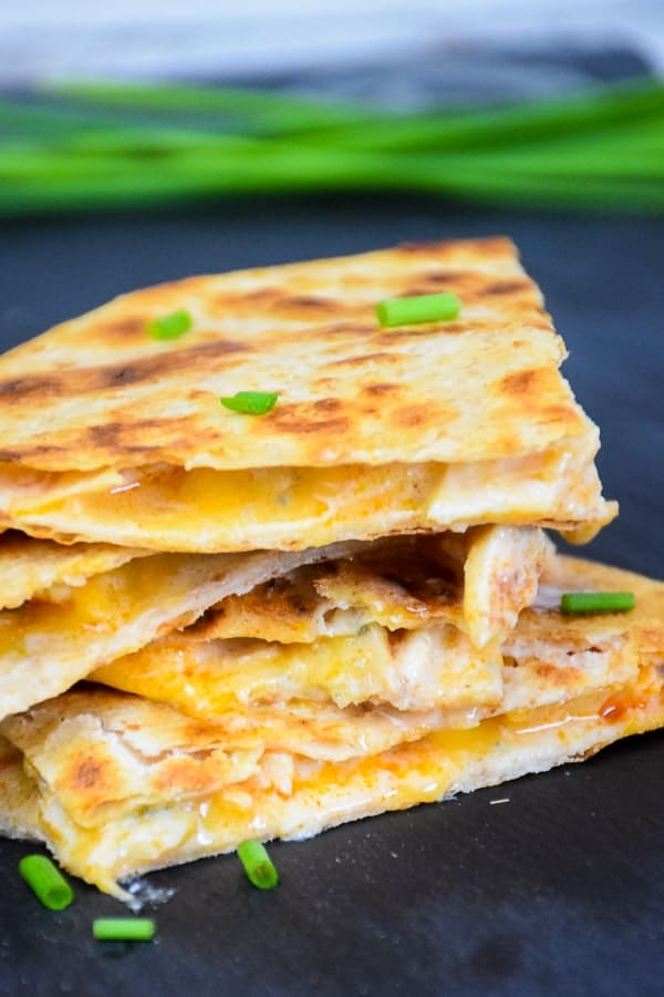Low Carb Buffalo Chicken Quesadilla