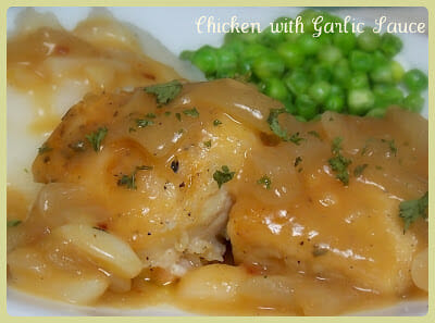 Chicken with Garlic Sauce – 8 WW Points Plus