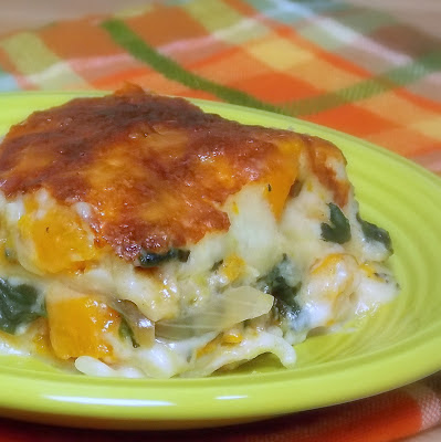 Butternut Squash, Caramelized Onion, Spinach Lasagna