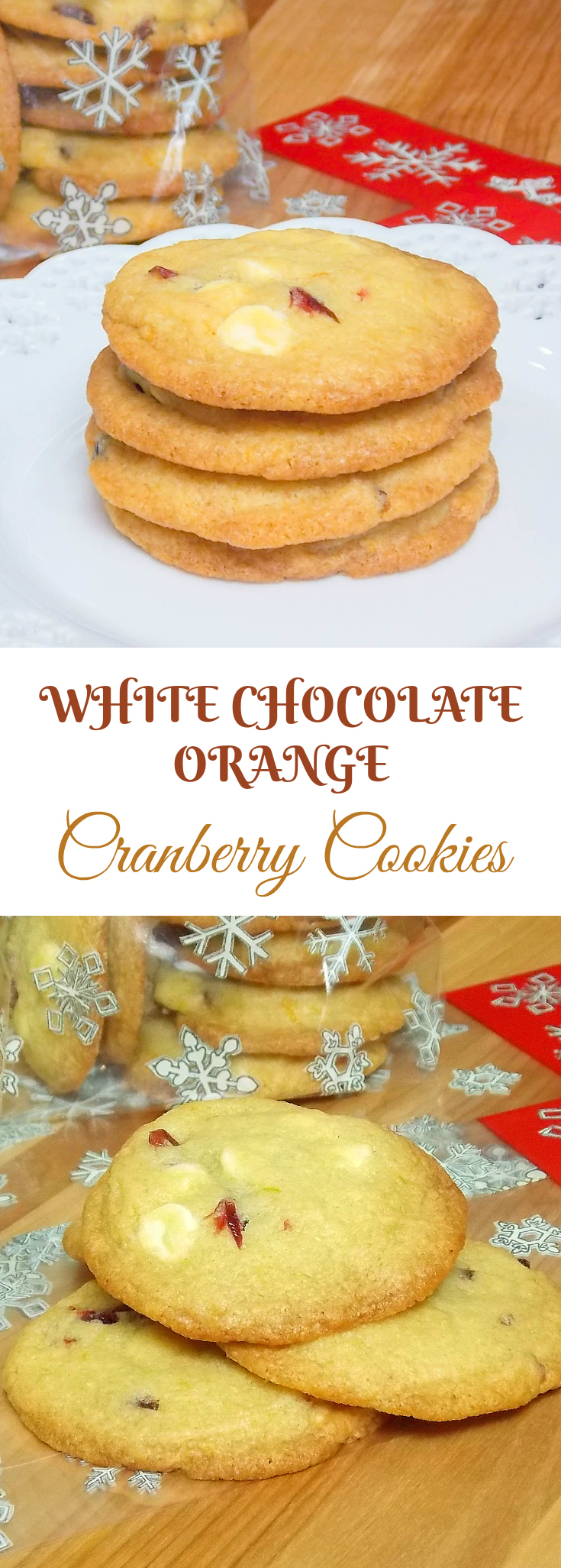 White Chocolate Cranberry Orange Cookies