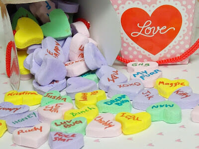 Valentine's Day Recipe for Homemade Conversation Hearts
