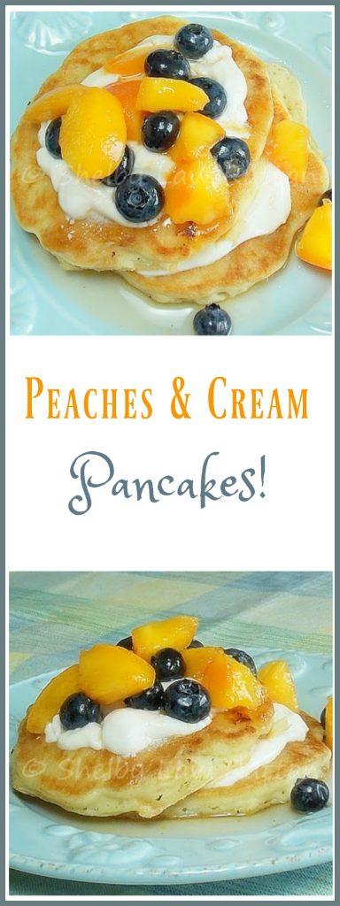 Peaches and Cream Pancakes