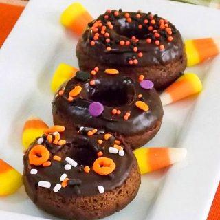 Chocolate Pumpkin Baked Donuts