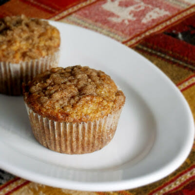Lower Sugar Banana Crumb Muffins
