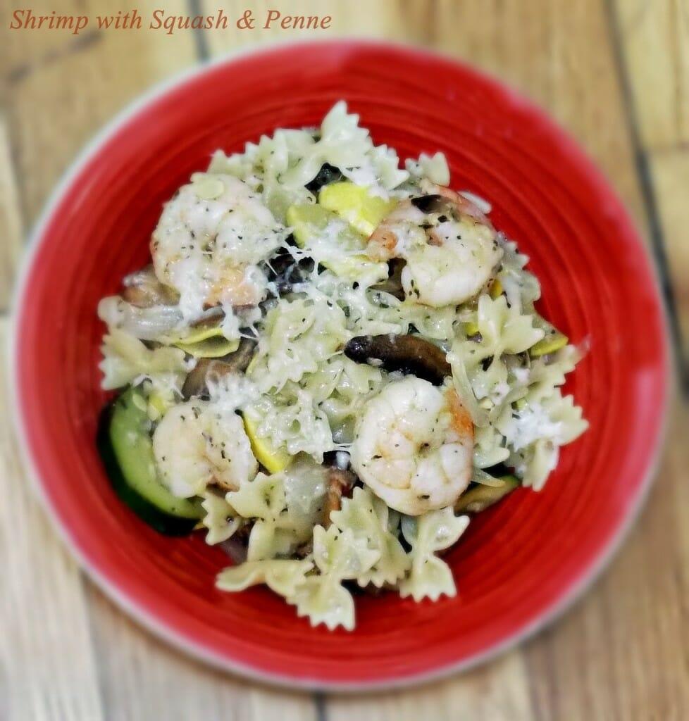 Shrimp with Squash and Penne #pasta #shrimp #lemon