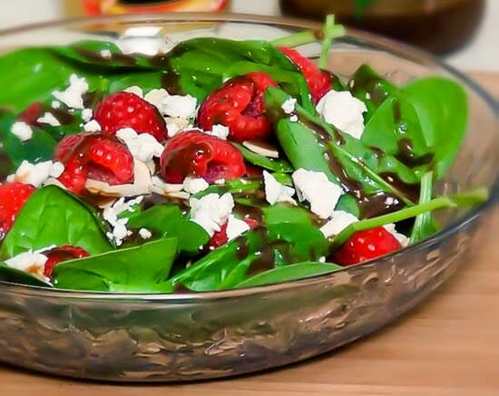 Honey Dijon Spinach Salad