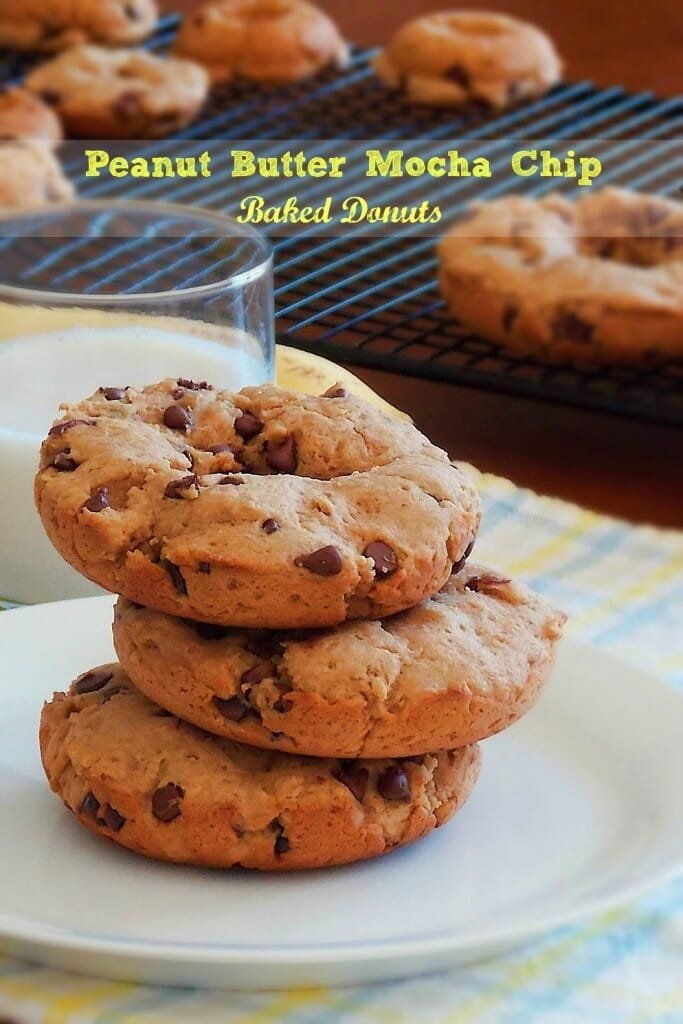 Peanut Butter Mocha Chip Baked Donuts