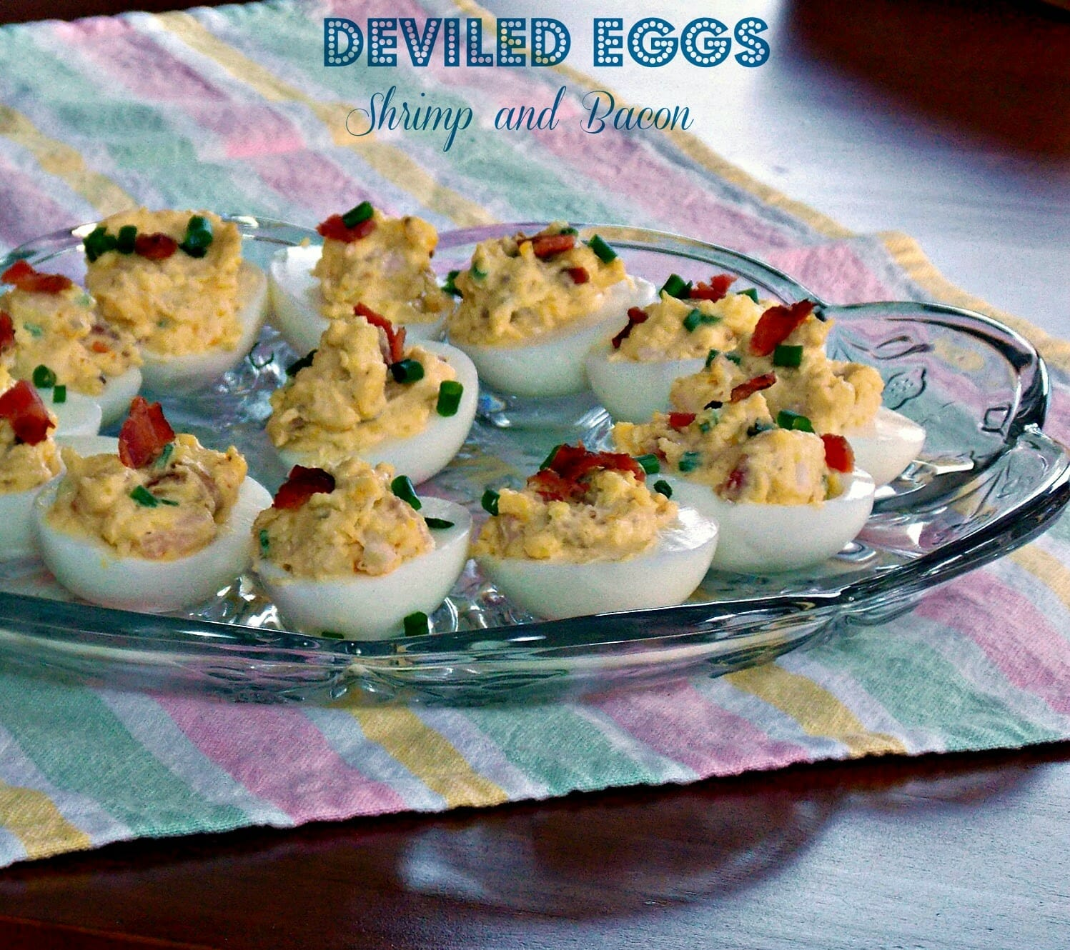 Deviled Eggs with Shrimp and Bacon