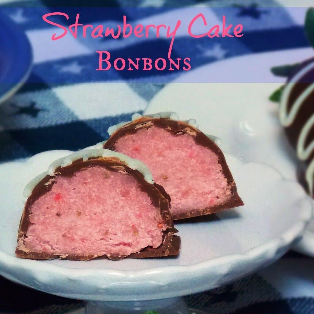 Strawberry Cake Bonbons